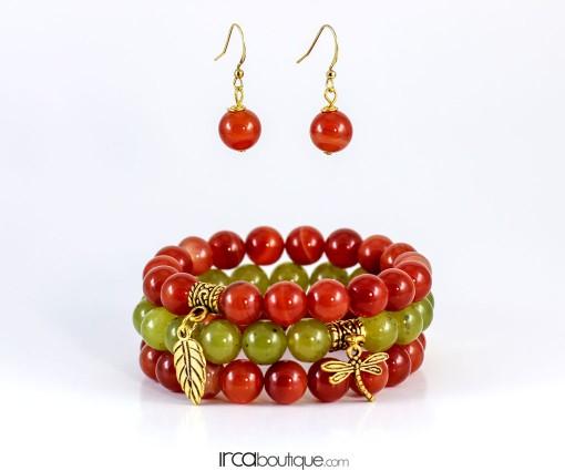 Jade&OrangeAgate_AgateEarings_OrangeSymphony_front