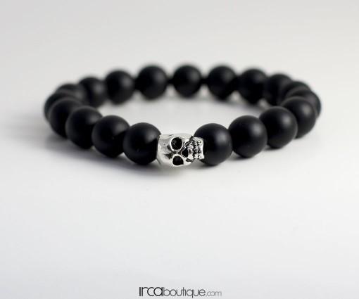 Bracelet_BlackMatteOnyx_Skull020601001Front