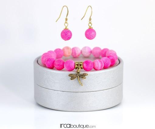 Neon_PinkDragonVeins_Earings_front2